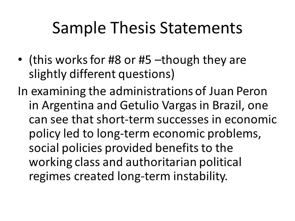 thesis statenent The thesis statement is the most crucial sentence in the entirety of any formal writing assignment its construction should be done meticulously.