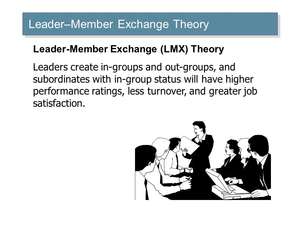 lmx theory questionnaire As i was reading through the leader-member exchange (lmx) theory, i had a lot of mixed feelings i can definitely see the strengths and weaknesses.