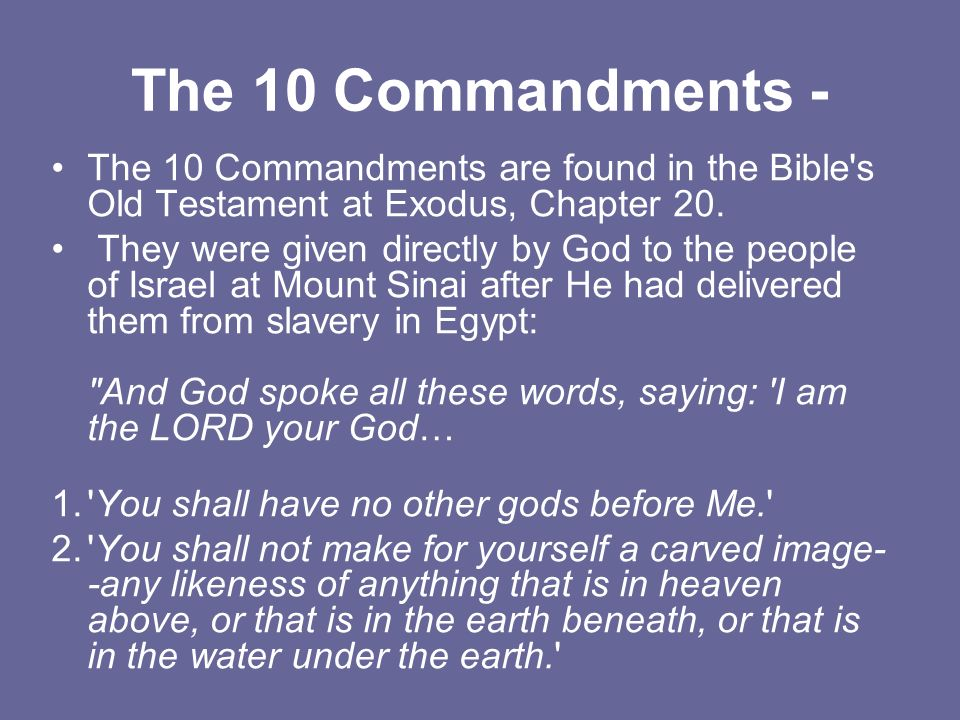 commandments in the bible