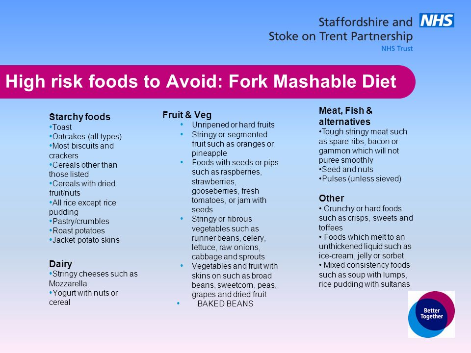 Soft Diet Foods To Avoid