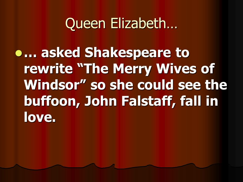 queen elizabeth and shakespeare relationship