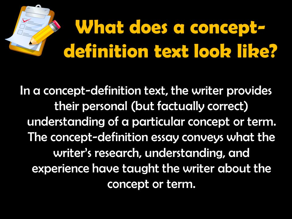 analytical thinking and writing in all subject areas ppt  what does a concept definition text look like