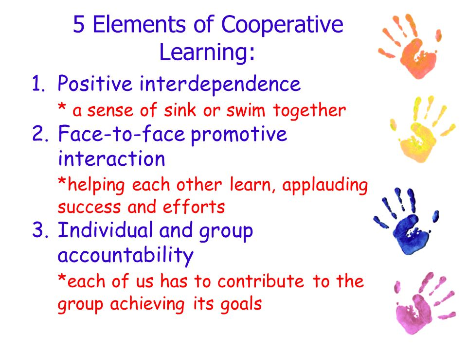 5 Elements of Cooperative Learning: