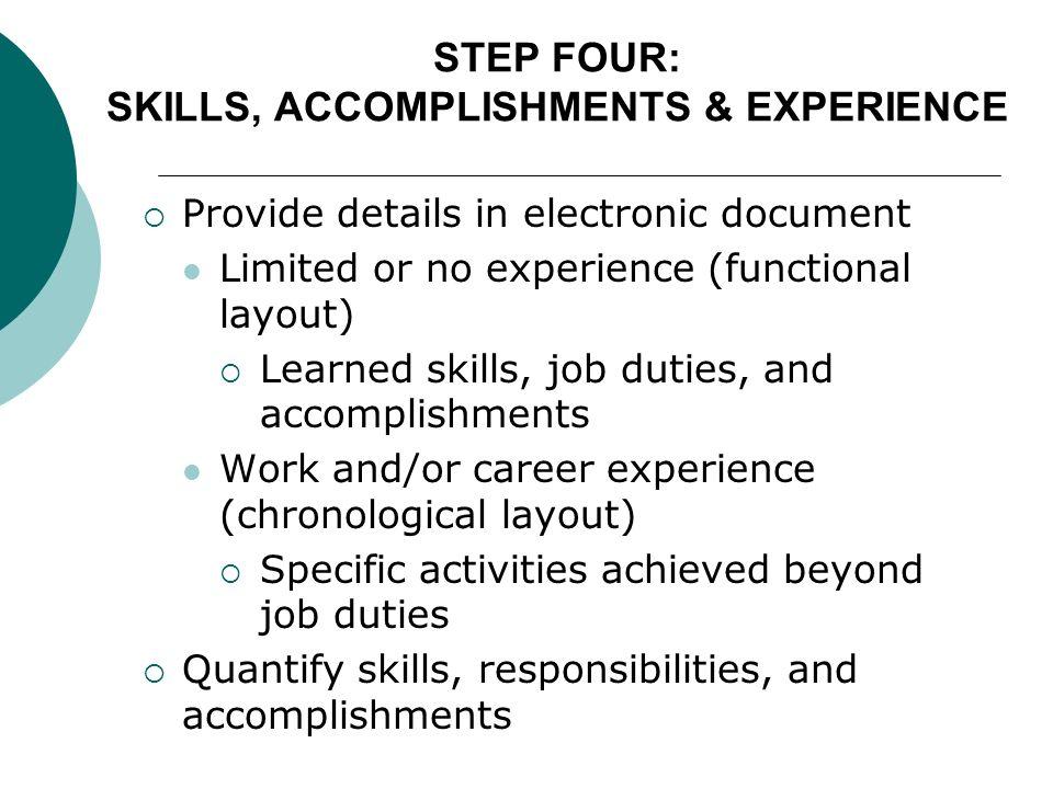 career accomplishments