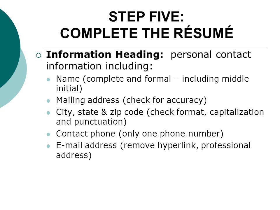 resume punctuation