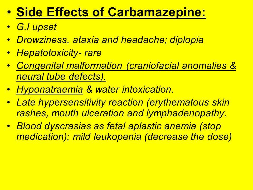 Carbamazepine Medication Side Effects