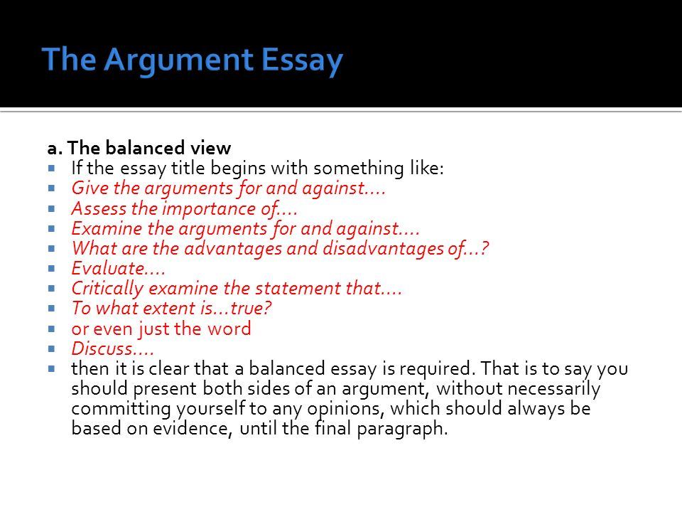 argument essay requirements Free essay: in 2013, more than 2,500 teenagers died in the united states from motor vehicle crash injuries such injuries are by far the leading public.