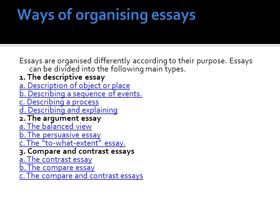 english language services ppt video online  ways of organising essays