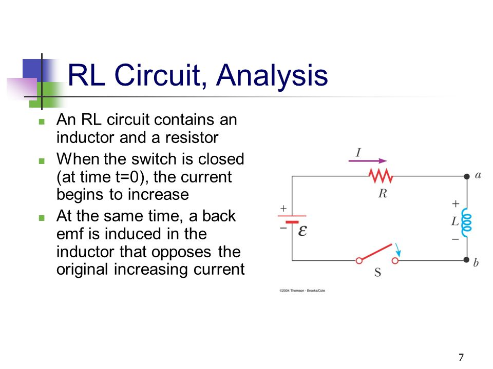 transient analysis of a resistor inductor rl Analysis of series rl circuits  both the resistor and the inductor  rl circuit as a low-pass filter an inductor acts as a short to dc.