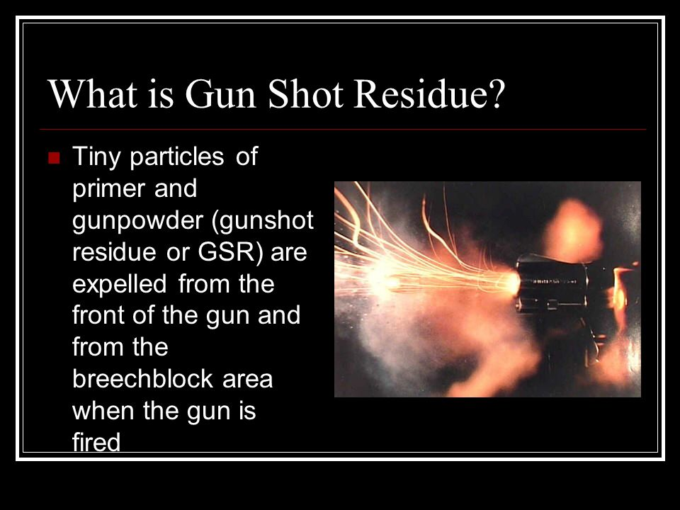 gun shot residue thesis Scientists in texas report development of a highly dependable, rapid and inexpensive new method for identifying the presence of gunshot residue the test fills a detection gap that results from .