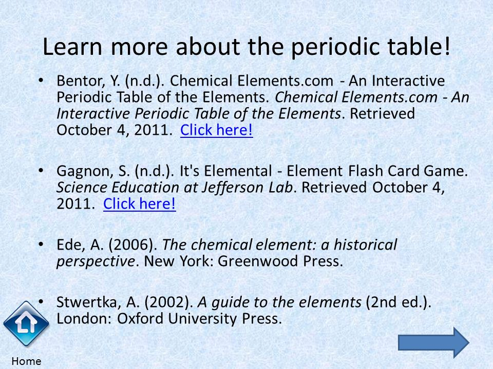 The periodic table of the elements ppt video online download learn more about the periodic table urtaz Image collections