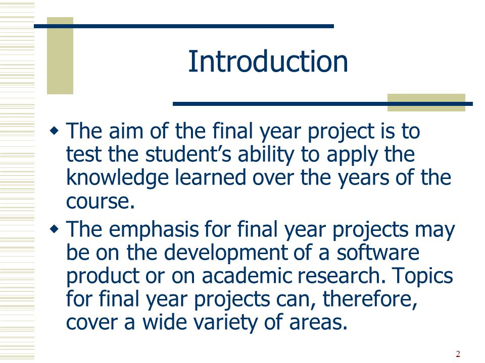 final project personal topics presentation There is another reason why your final year project is so important:  (the project descriptions provided by lecturers are rarely  for your own personal archive.