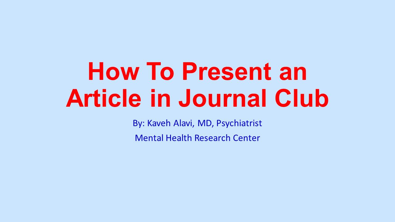 how to present an article in journal club - ppt video online download, Powerpoint templates
