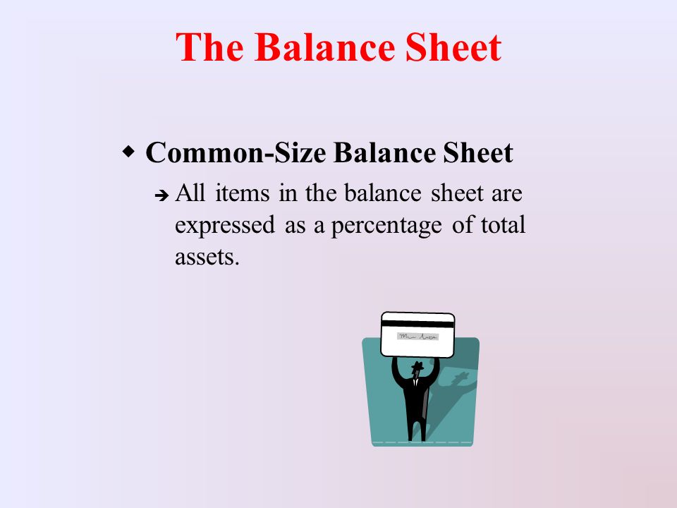 how to make common size balance sheet