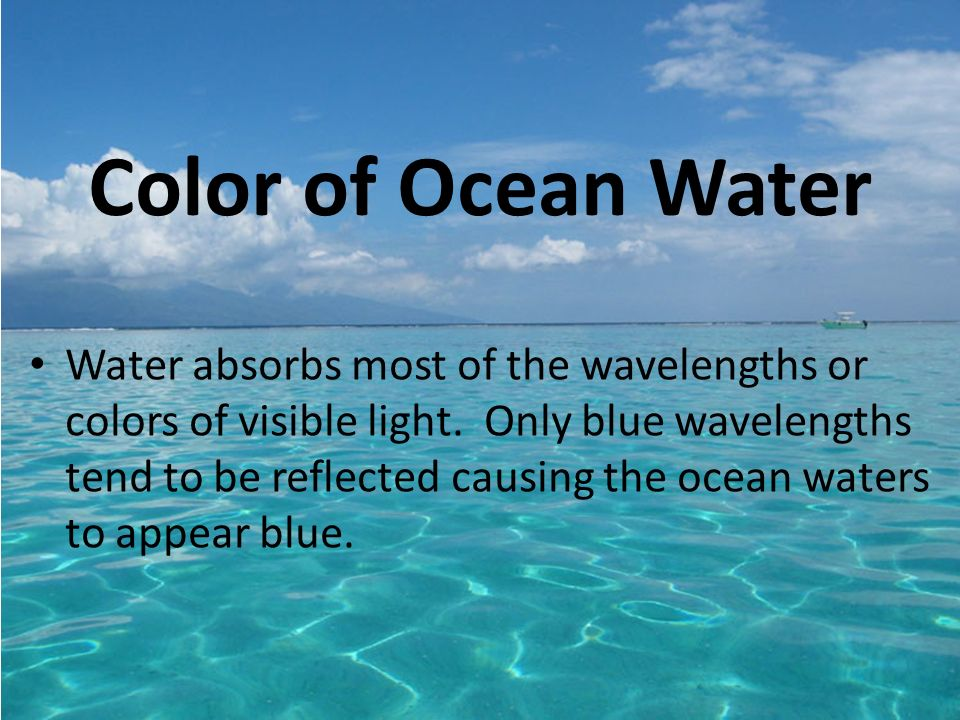 Useful Color of light that penetrates seawater good