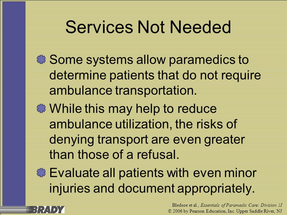 patient refusal of treatment nursing essay Patient refusal of treatment or transport every adult person has a right to make decisions regarding health care, including the decision to reject that which is recommended by the person's health care provider.