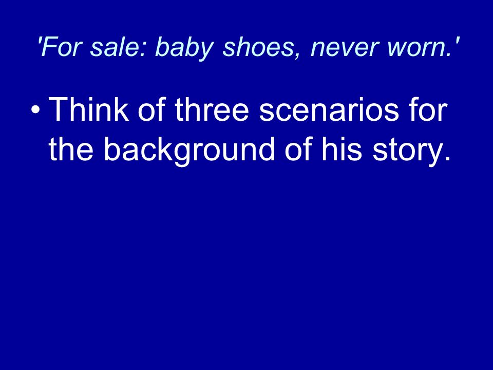 for sale baby shoes never worn For sale baby shoes never worn this song is by steve harley and appears on  the album stranger comes to town (2010.