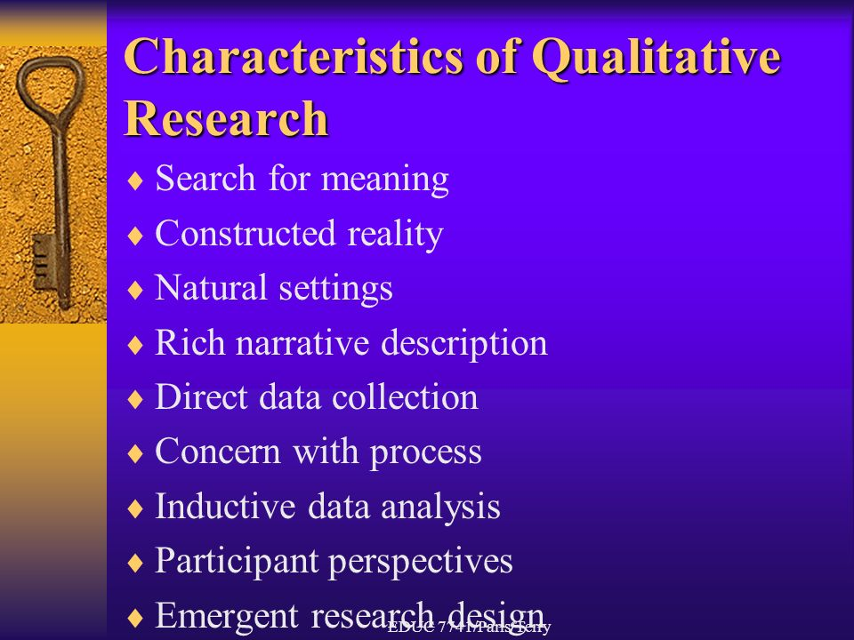 characteristics of descriptive research As mentioned in chapter 1, descriptive research is used to describe the features  of or provide a picture of a condition or phenomenon researchers who conduct .