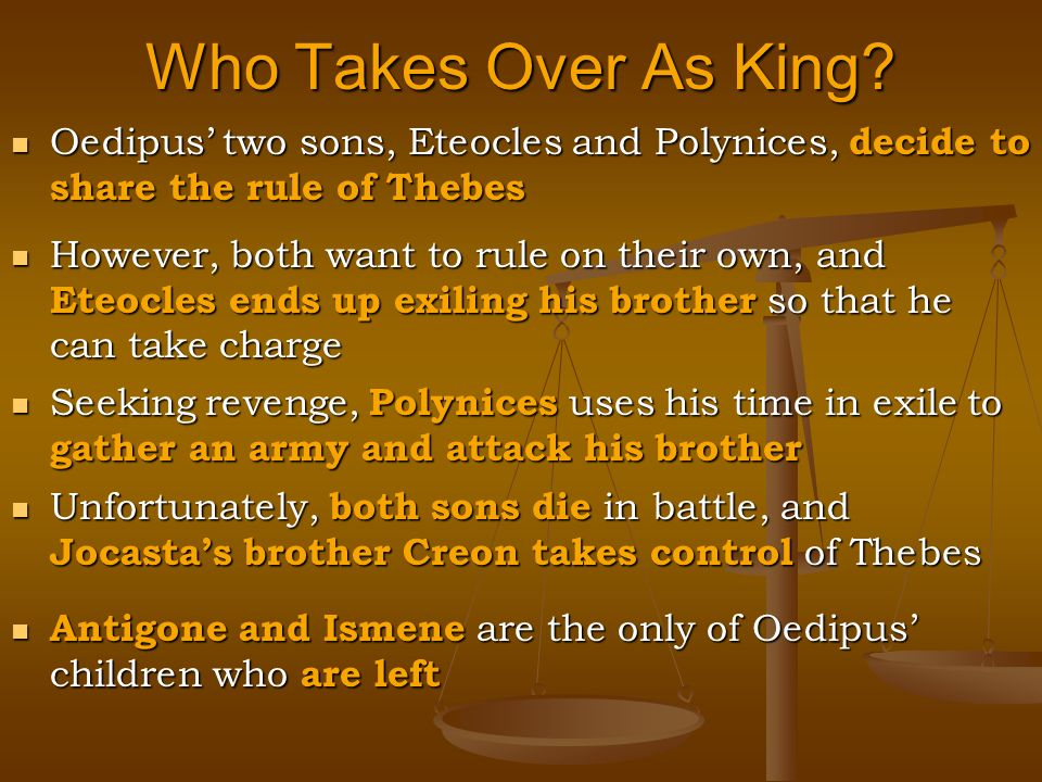 the actions of the tragic hero creon in antigone a play by sophocles Oedipus at colonus is also graced with antigone's presence in this play,  creon, it's almost as if sophocles  antigone argues that her actions were.