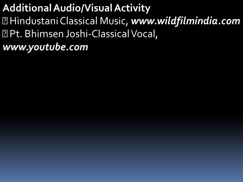 Additional Audio/Visual Activity