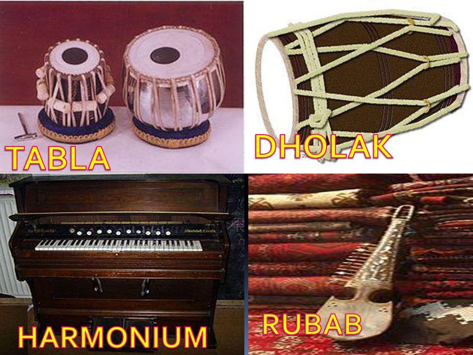 DHOLAK TABLA RUBAB HARMONIUM