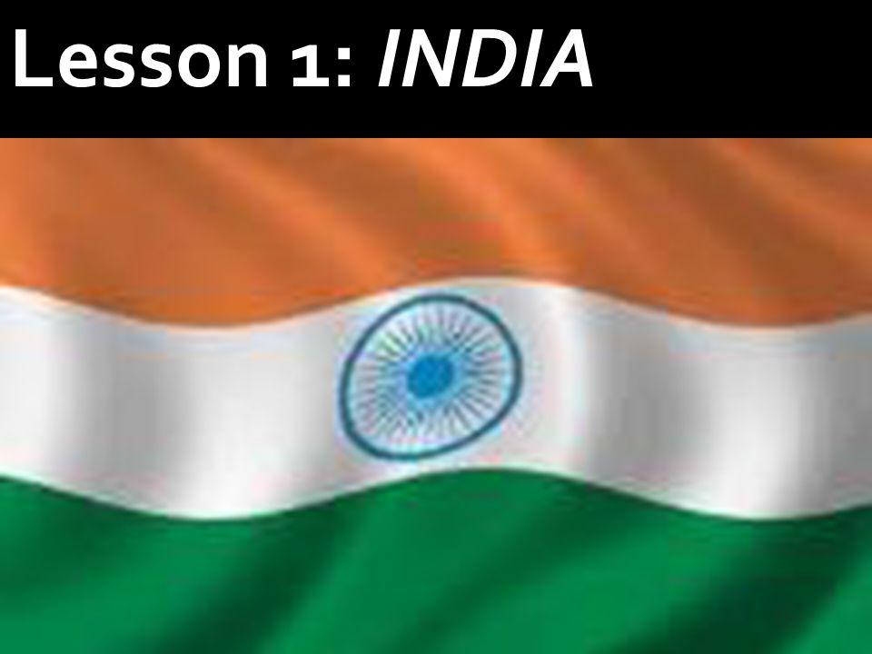 Lesson 1: INDIA