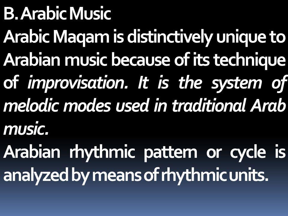 B. Arabic Music