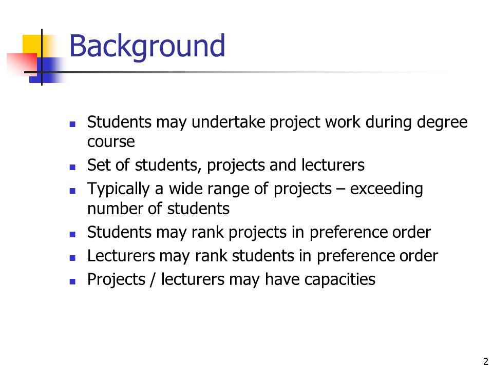 undertake project work