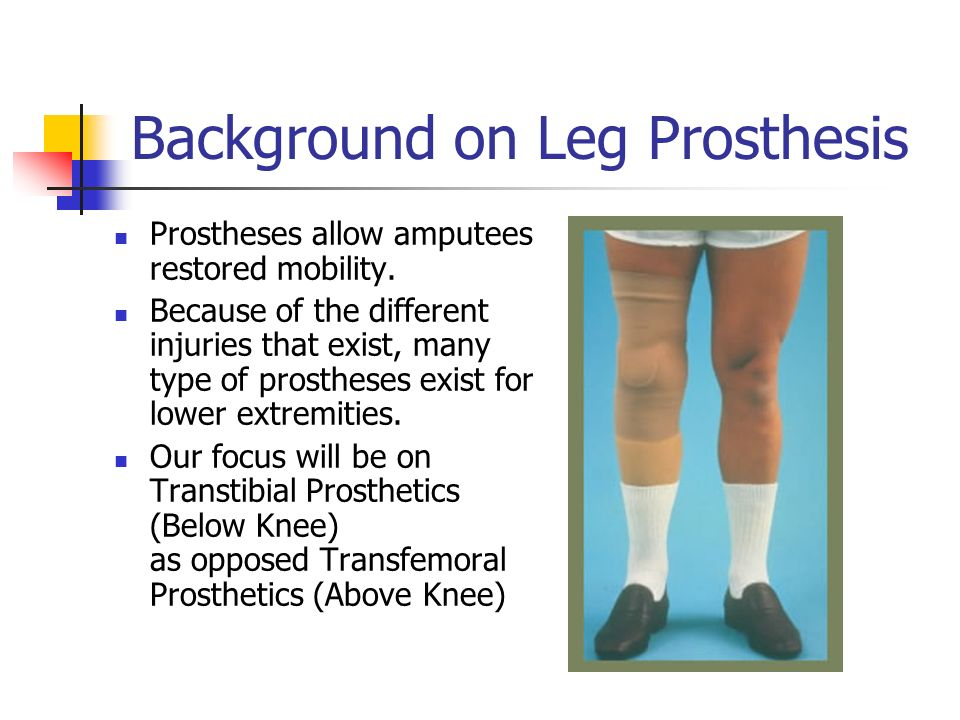 of knee prothesis Cost analysis reveals that a sophisticated above-knee prosthesis will be about $1 million in 45 years open-source robotic prothesis there is.