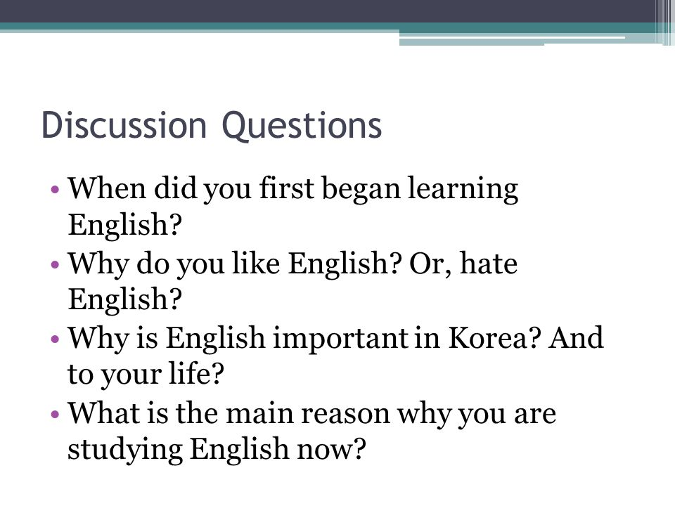 how to discuss in english