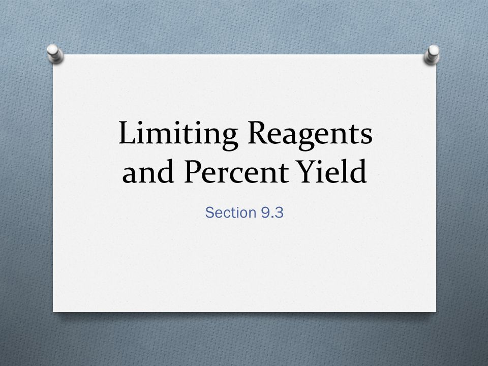 how to find limiting and excess reagents
