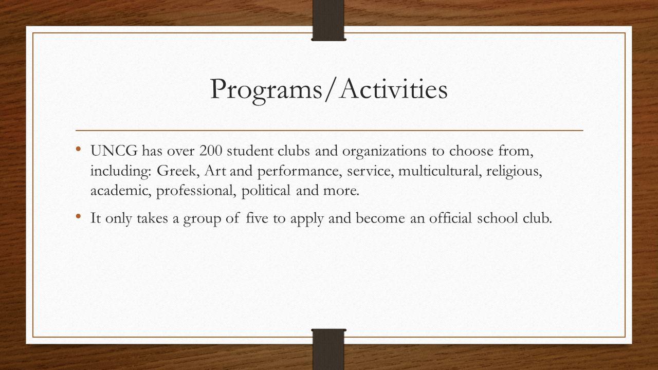 Programs/Activities