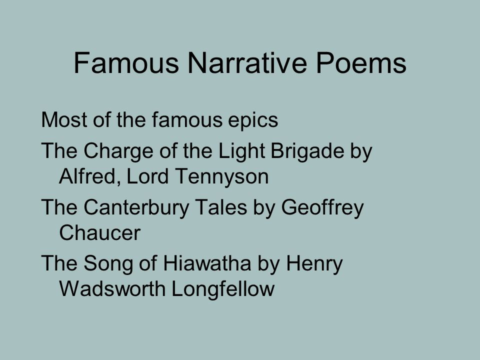 Narrative Poetry. - ppt download