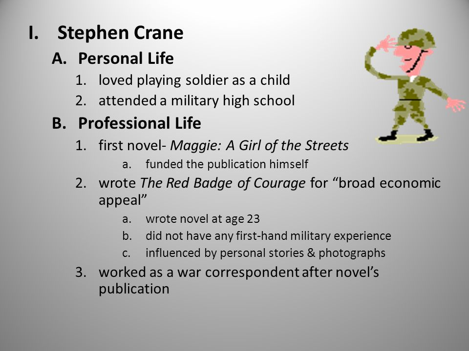 naturalism in stephen cranes maggie a Born on 1 november in newark, new jersey, stephen crane (b  his novella is  generally regarded as the first work of american literary naturalism  stephen  crane, prose and poetry: maggie: a girl of the streets, the red.