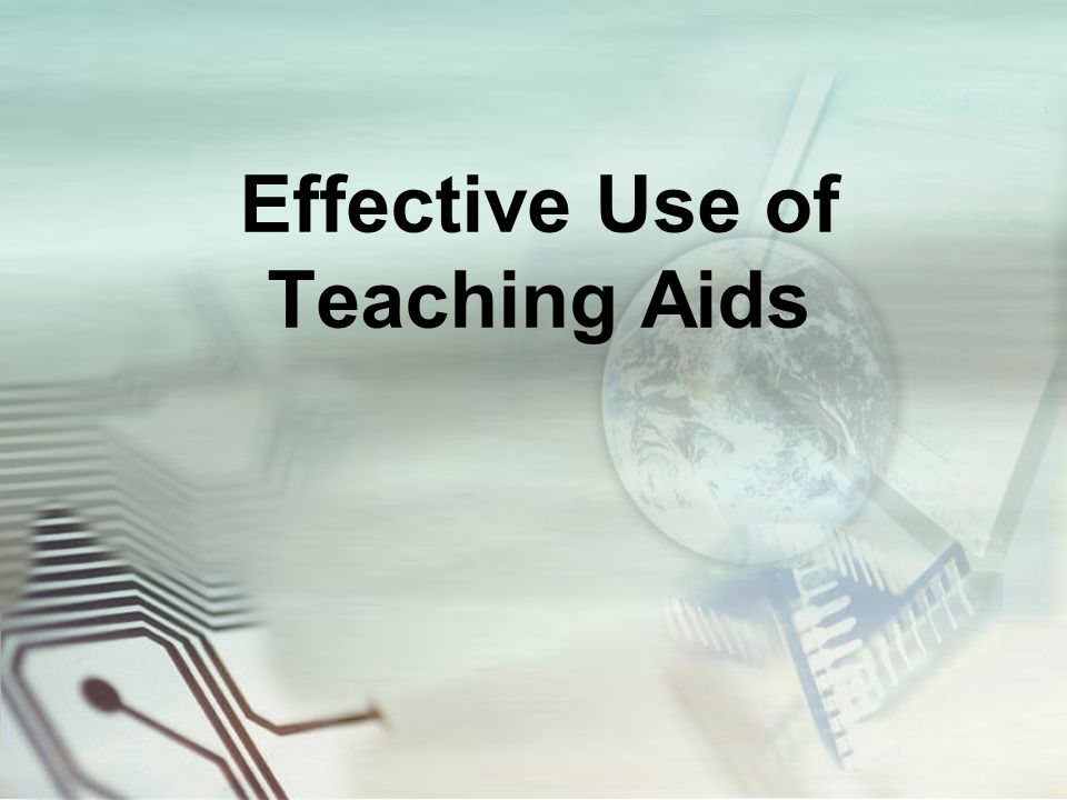 aids to effective teaching The word instructional aid refers to any material or device used to assist the  instructor in:  instructional aids are essential to effective instruction the  instructor.