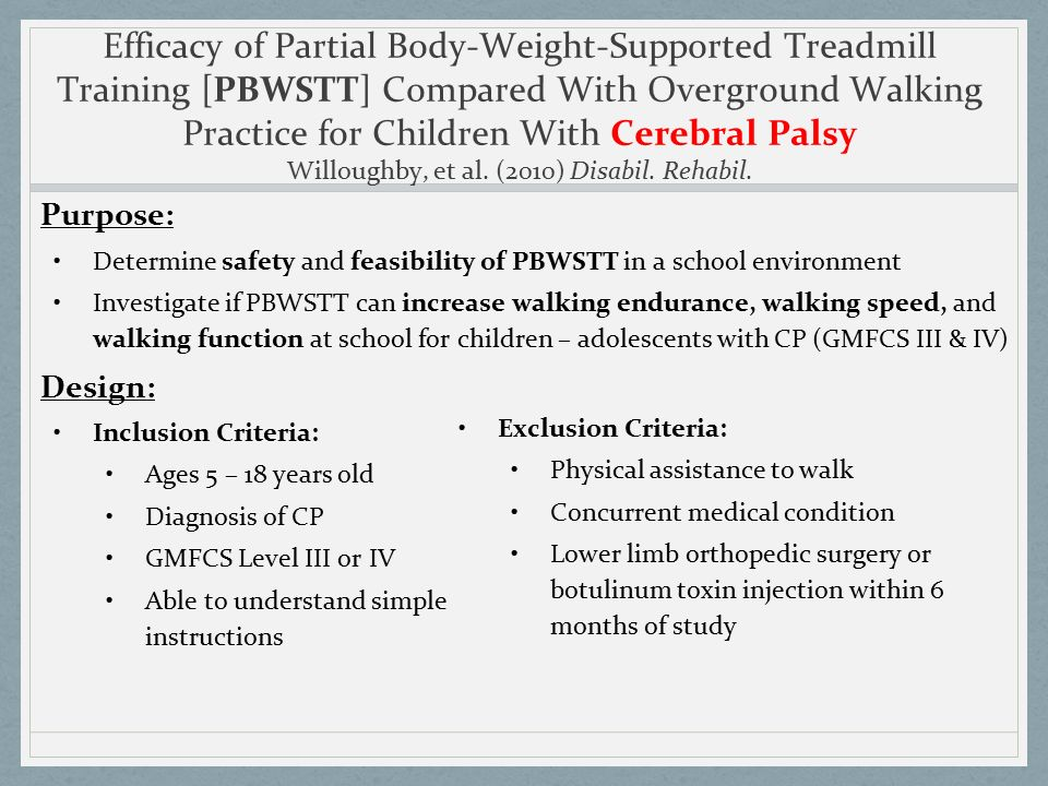 controlled general body-weight help support intended for treadmill machine training-a lawsuit study