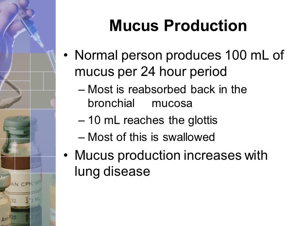 how to stop mucus production in lungs