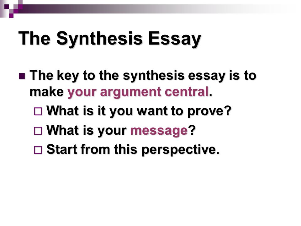 synthesis in essay Synthesis paper student example beauty if the person's essay was above average, they were given high scores no matter how attractive they were.