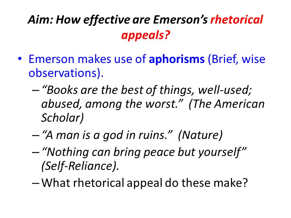 Rhetorical Devices Used In Nature Emerson