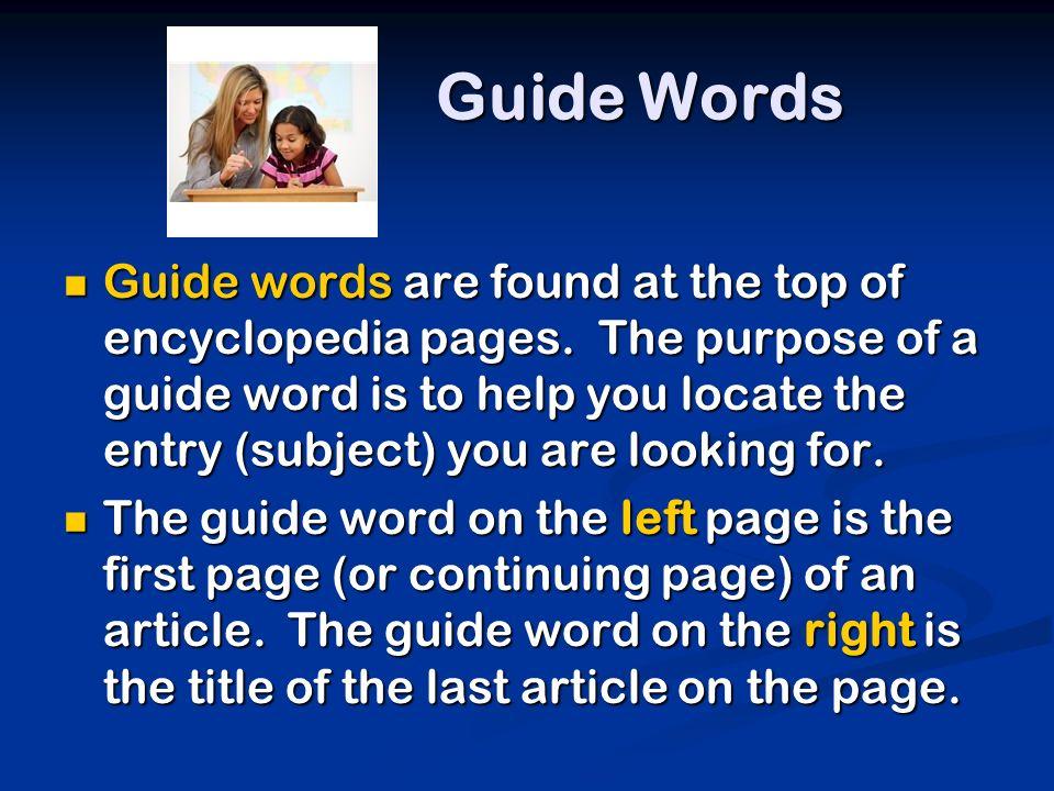Guide Words - SuperTeacherWorksheets