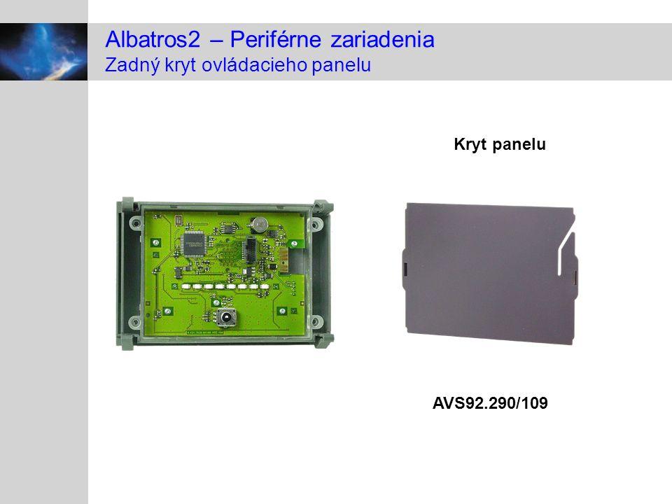 Albatros2 – Periférne zariadenia Zadný kryt ovládacieho panelu