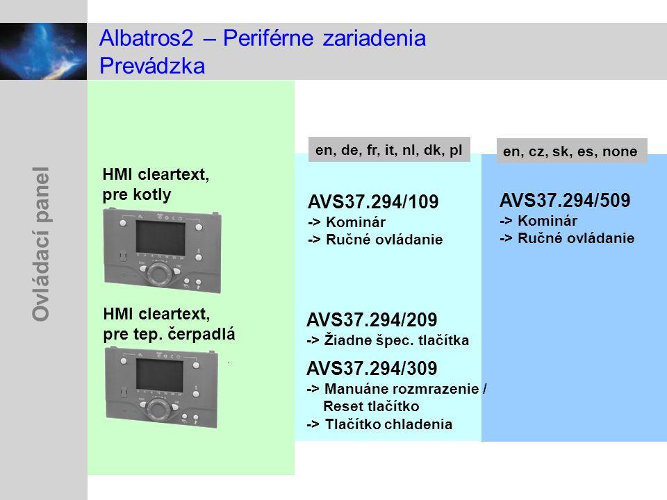 Albatros2 – Periférne zariadenia Prevádzka