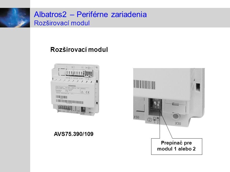 Albatros2 – Periférne zariadenia Rozširovací modul