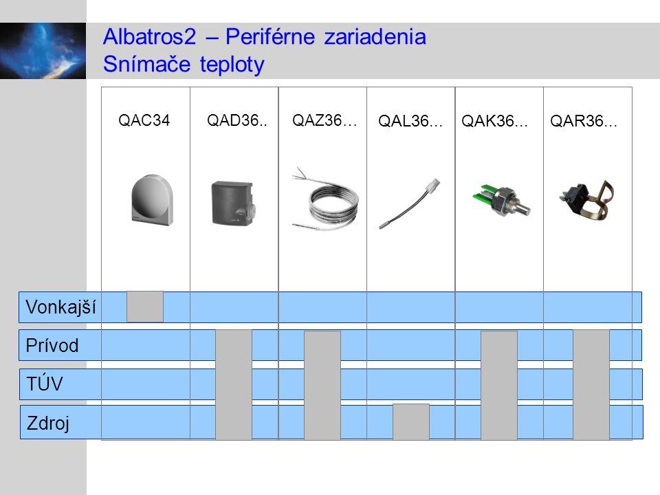 Albatros2 – Periférne zariadenia Snímače teploty