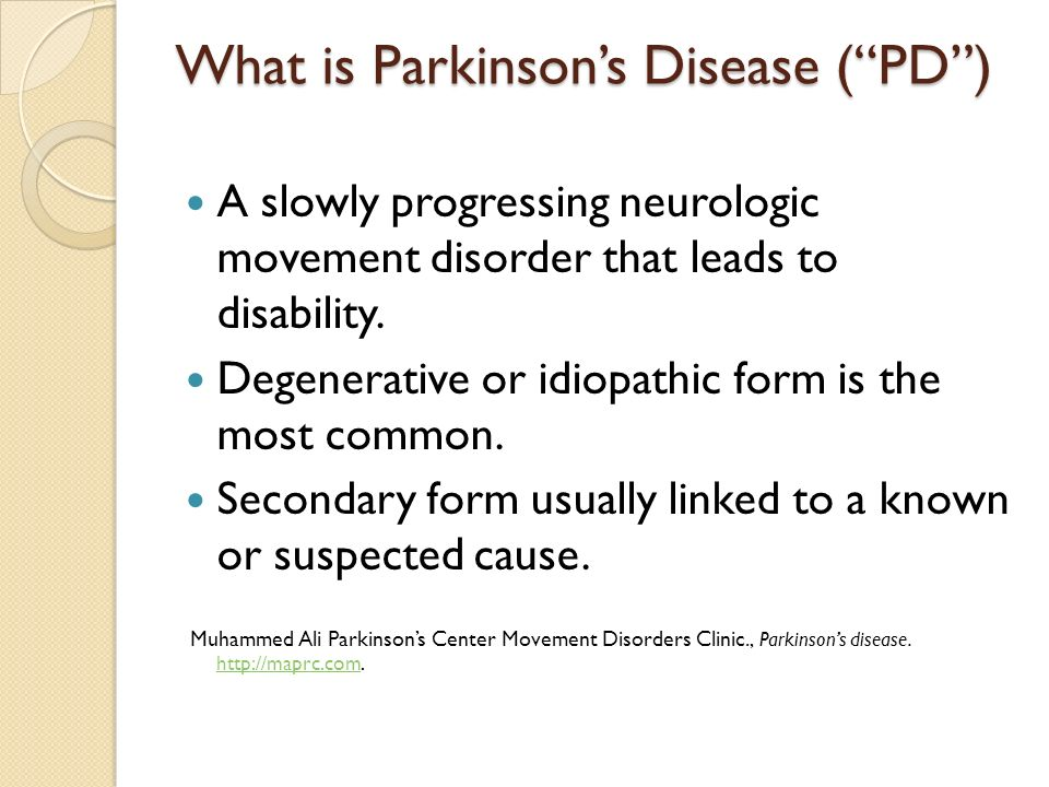 case study on neurological disorder on muhammad ali Mirapex is often used to treat parkinson's disease, which is a neurological  disorder that  the study, done by the muhammad ali parkinson research  center at  this case was significant since lawyers with pending lawsuits could  gauge the.