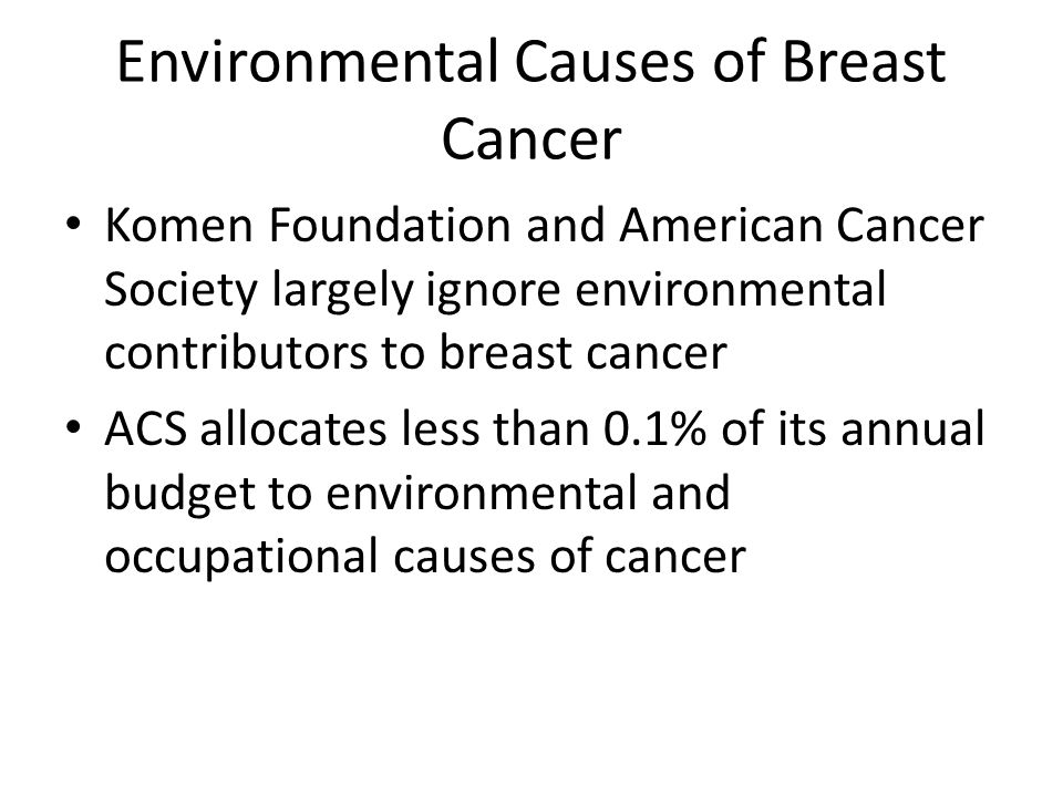 the environmental causes of cancer