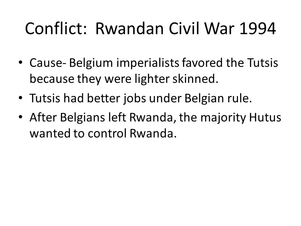 thematic essay topics ppt  conflict rwandan civil war 1994