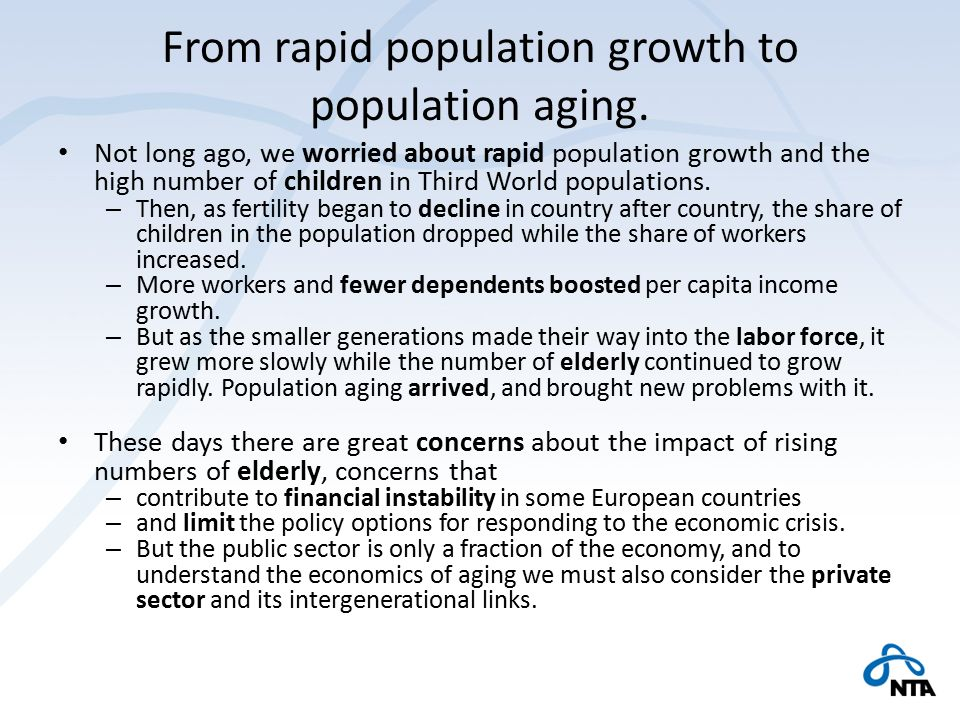 an ageing population and its impact economics essay Economy, finance and the euro publications economy, finance and the euro publications  institutional papers are reports analysing the economic situation and economic developments,  this study focusses on labour taxation and its impact on inclusive growth.