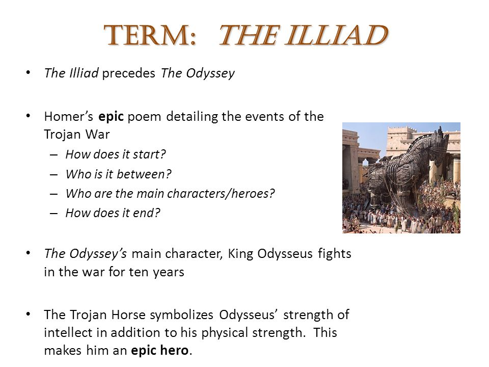 how does the odyssey define the epic hero