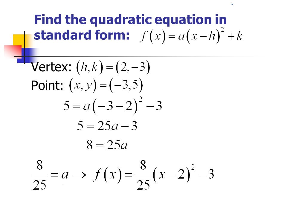 2.1 – Quadratic Functions. - ppt video online download